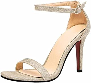 e09f40af52b97 SHOWHOW Women s Elegant Stiletto Open Toe Buckle Ankle Strap High Heel  Sandals for Party
