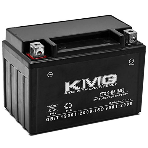 KMG Battery Compatible with Kawasaki 250 EX250 Ninja 250R 2009-2012 YTX9-BS Sealed Maintenance Free Battery High Performance 12V SMF OEM Replacement Powersport Motorcycle ATV Scooter Snowmobile