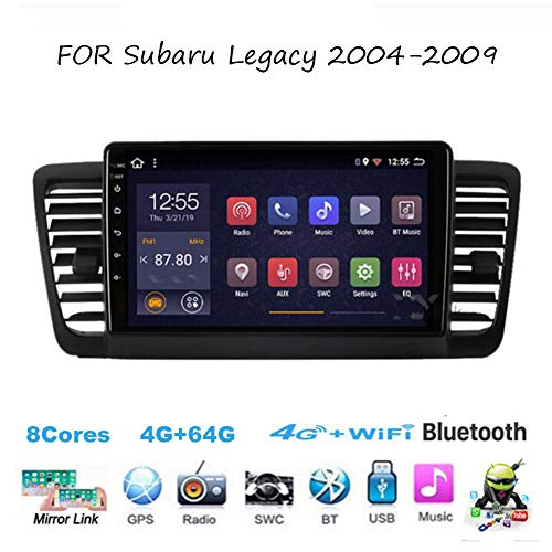 Für Subaru Legacy 2004-2009 Autoradio Radio Car Video Player GPS Navi Steering Wheel Control BT SD USB Hotspot Wifi 4G Analog TV SWC Mirrorlink Sygic GPS Verkehrsinfo Navigation ,8cores,4G+64G