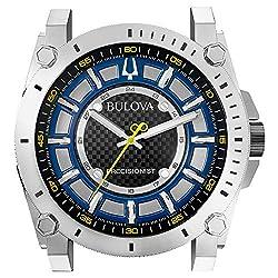 Bulova C9888 Precisionist Wall Clock, Mirror Chrome-Finish