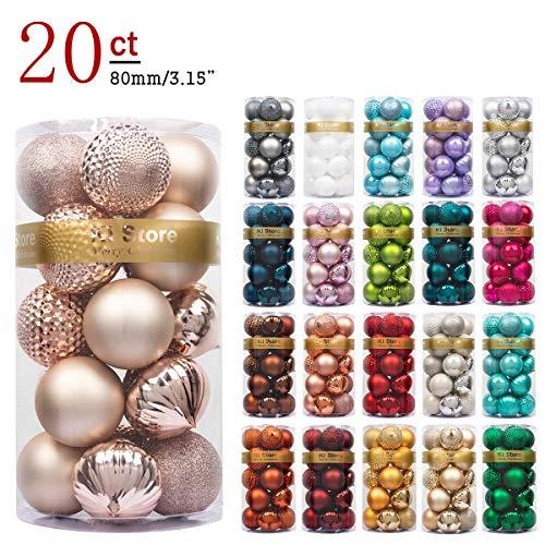 Art Beauty Ki Store, Palline di Natale, Decorazioni per Albero di Natale, 34 Pezzi, Palline...