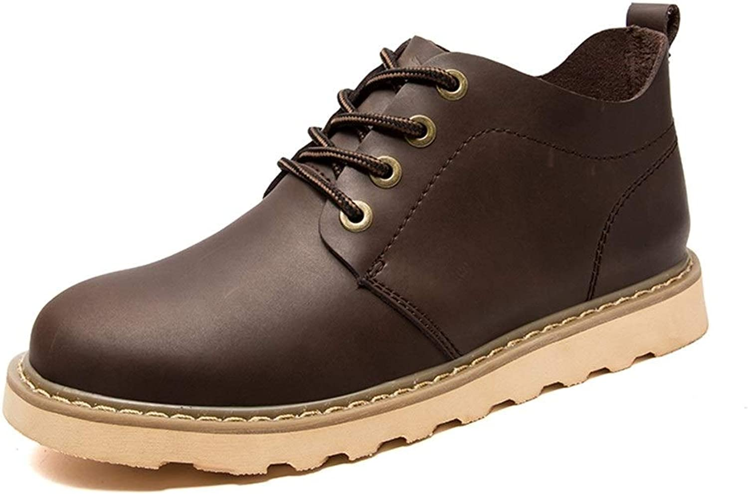 Easy Go Shopping Oxford shoes For Men Formal shoes Lace Up Horse Skin Rubber Outsole shoes Cricket shoes (color   Beeswax color, Size   5 UK)