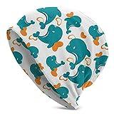 DIAUDJSSD Miami Dolphin Cartoon Cute Pattern Beanie Hat Winter Knit Cap Gifts for Women Mom Her Men Teen