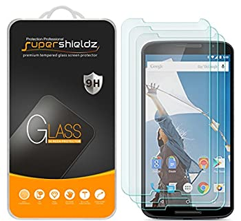 3 Pack  Supershieldz Designed for Google Nexus 6 Tempered Glass Screen Protector Anti Scratch Bubble Free