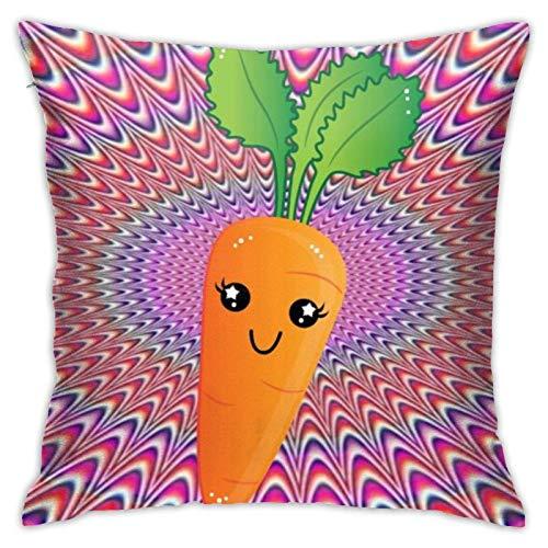 XCNGG Funda de Almohada Funda de cojín de Almohada para el hogar Ropa de Cama Throw Pillow Case, Carrot Pillow Cover, Decorative Pillowcase Square Cushion for Sofa Couch Car 18x18