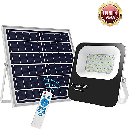 200W Solar Flood Lights Outdoor Led Remote...