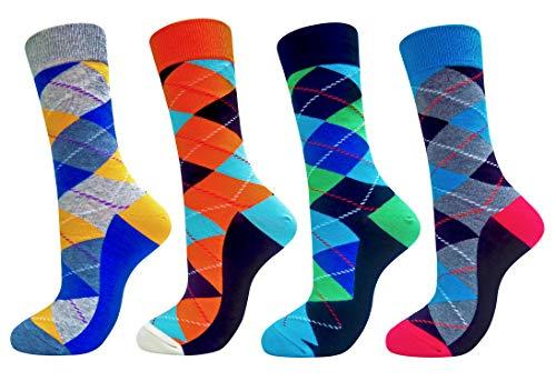4 pares de calcetines con formas