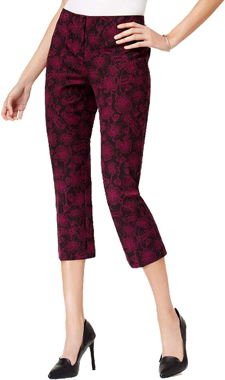Alfani Printed Stretch Capri Pants
