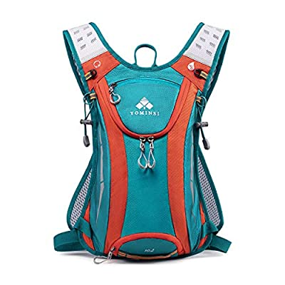 YOMINSI Hydration Backpack Lightweight Hiking Backpack Waterproof Running Backpack Water pack-2L Insulated Bladder Compartment for Cycling,Trail Running,Music Festivals,Day Trips-Green