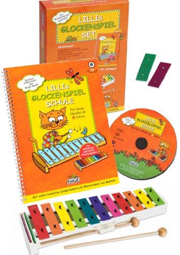 SONOR/HAGE Lillis klokkenspel set – de ideale complete set voor beginners voor kleine muzikanten vanaf 4 jaar met playback cd om mee te spelen