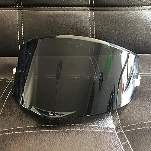Casco de Motocicleta de 8 Colores Visera Solar para AGV Pista GP RR Corsa R GPR 7 0 Aniversario (Color : Negro)