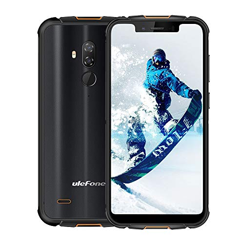 Rugged Cell Phones Unlocked,Ulefone Armor 5S IP68 Dropproof Waterproof Smartphones,Octa-Core 4GB+64GB ROM 5.85' FHD+ Screen Android 9.0 5000mAh Battery Global 4G LTE Dual SIM Rugged Phones-Black