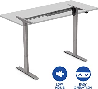 FlexiSpot EC1S Height Adjustable Desk Frame Electric Sit Stand Desk Base Home Office Stand up Desk(Gray Frame Only)