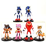 XINBANG Juguetes sónicos 6pcs/Lote 7-9cm 6pcs/Set Sonic Shadow Tails Characters Figure Toys Doll For Children Animals Boom Rare PVC Model Dolls Gifts For Children
