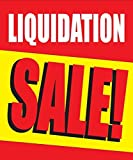 Liquidation Sale Store Business Retail Discount Promotion Signs,18'x24', Full Color, 5 Pack