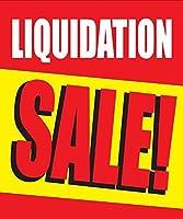 Liquidation Sale Store ビジネス リテール ディスカウント プロモーションサイン 18インチ x 24インチ フルカラー 5パック