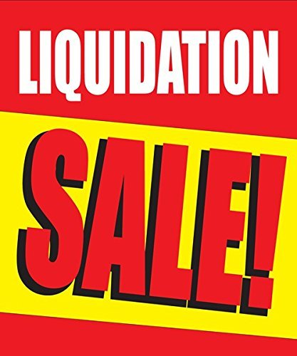"Liquidation Sale Store Business Retail Discount Promotion Signs,18""x24"", Full Color, 5 Pack"