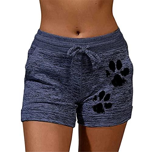 Pantalones Cortos de cordón de Secado rápido de Verano con Cordones de Cordones de Encaje de Cintura Alta elástica