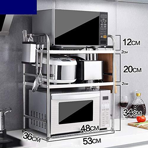 Multi-Layer-Racks Stabile Mikrowelle Regal DREI Etagen Edelstahl Küchenarbeitsplatte Und Schrank Regal Edelstahl Sorgfältig Poliert Robust Und Sicherheit