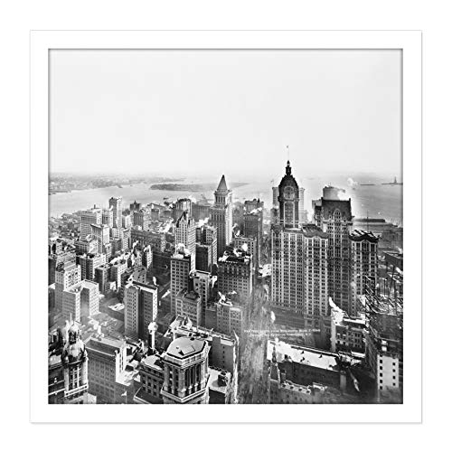 Underhill New York from Woolworth Building 1913 Photo Square Wooden Framed Wall Art Print Picture 16X16 Inch Von Fotografieren Holz Wand Bild