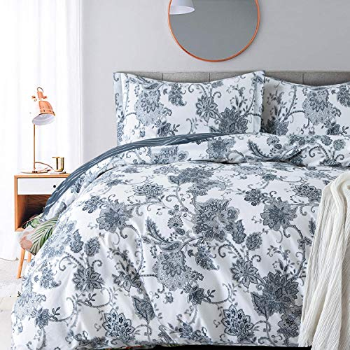 JUCFHY King Duvet Covers and Sets Damask Paisley Vintage Floral Print Duvet Cover Sets-1000tc...
