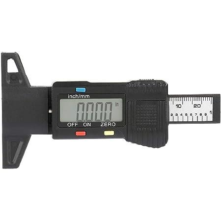 Tiefenmesser 11 5 6 5 2 Cm Digitales Profiltiefenmesser Reifengewindetester Messgerät Mit Lcd Display Für Pkw Lkw Lieferwagen Gewerbe Industrie Wissenschaft