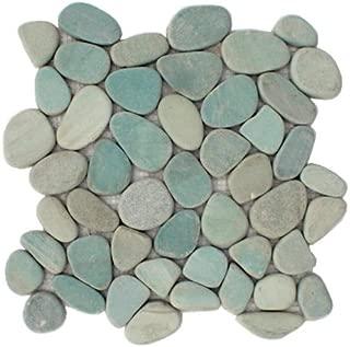 Sliced Aqua Pebble Tile 12x12