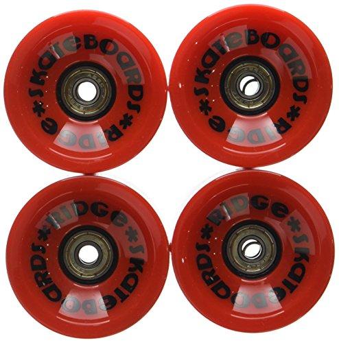 Ridge 70mm Longboard Wheels Skateboard Räder, Rot, 70 mm