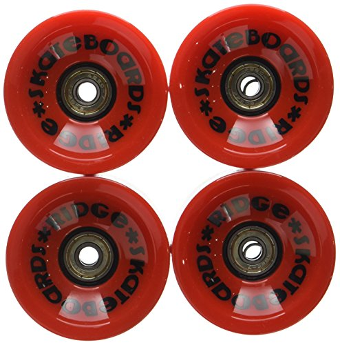 Ridge 70mm Longboard Wheels Skateboard Räder, Rot, 70 mm