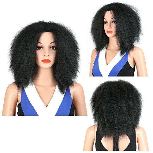 CHUTD Vrouwen Korte Afro Haar, Explosieve Hoofd Pruiken Style, Zachte Natuurlijke Synthetische Pruiken voor Vrouwen, voor Halloween Cosplay Party