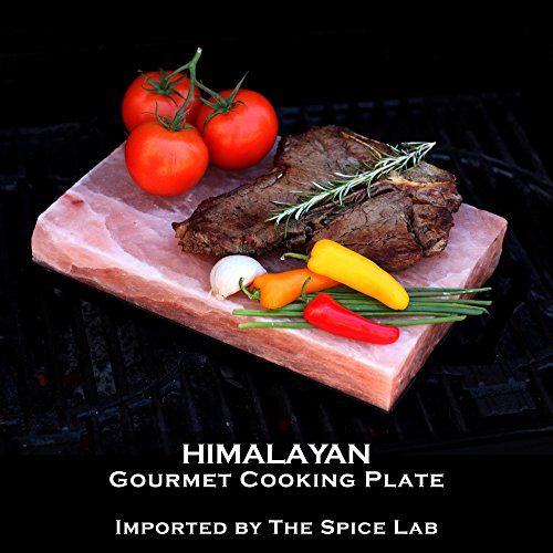The Spice Lab Natural Pink Himalayan Salt Cooking Plate / Serving Plate – for Cooking, Seasoning,...