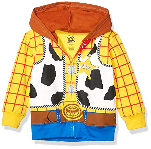 Disney Boys' Toddler Sheriff Woody Toy Story Costume Hoodie, Yellow, 5T