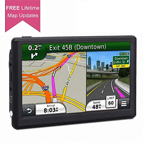 GPS Navigation for Car, 7 Inch Car GPS Updated 8GB LCD Touch Screen GPS Navigation System, Multi-Media Car Vehicle Electronics Lifetime Free Maps