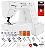Janome HD3000 Heavy Duty Sewing Machine w/Hard Case + Ultra Glide Foot + Blind Hem Foot + Overedge...