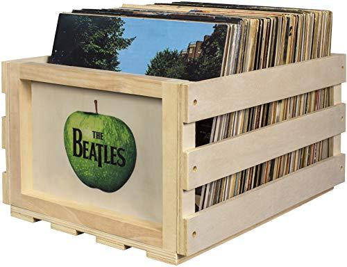 Crosley AC1004A-NA Aufbewahrungsbox für bis zu 75 Alben The Beatles Apple