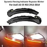 HDX Espejo retrovisor dinámico Intermitente LED indicador de luz para Audi A3 S3 RS3 8V 3th 2013-2019 LBF730