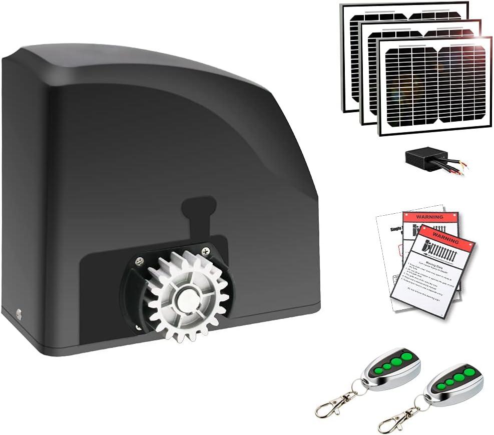 TOPENS DKR500S Solar Sliding Gate Rack Weekly 25% OFF update Duty Opener Heavy Driven