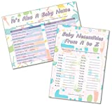 Baby Shower Party Games - 2 Games - ITS A Baby Name/Baby A to Z - 20 Players