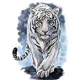Kit completo de pintura de diamante cuadrado, bricolaje 5D pintura de diamantes por número,tigre de cristal bordado punto de cruz arte Craft suministro lona decoración de pared 30 x 40 cm