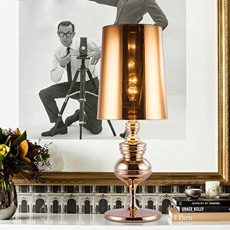 JINSH Home Eisen Tischlampe Schlafzimmer Nachttischlampe einfache Retro Wohnzimmer Studie kreative Tischlampe B07JX816TS | Good Design