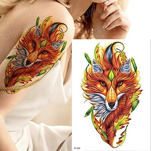 tatuajes y Arte Corporal cabeza de león tatuaje colorido león tatuaje de las mujeres impermeables Tatouage tatoo pegatinas tatuaje del león en los tatuajes de G TH329