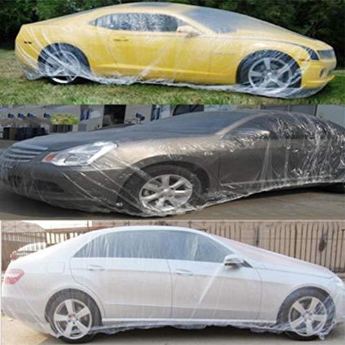 ACEACE New 2ST 6.6 * 3.8M Transparent Car Cover Großer Schnee Regen Schutzhülle Universal-Staubmantel Staubdichtes Anti-Schmutz Autozubehör