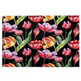 Airmark Rompecabezas de 1000 Piezas,Rompecabezas de imágenes,Patrón de Flor de tulipán de Flores Silvestres Estilo,Juguetes Puzzle for Adultos niños Interesante Juego Juguete Decoración para El Hogar