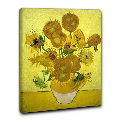 Niik Quadro + Telaio (BC) I Girasoli di Vincent Van Gogh 60 x 46 x 1,7 cm Falso d'autore Stampa su Tela