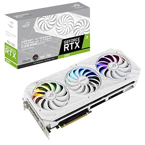 ASUSTek NVIDIA GeForce RTX 3080 搭載 トリプルファンモデル 10G ROG-STRIX-RTX3080-O10G-WHITE