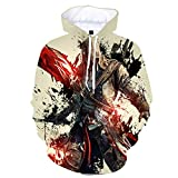 mglxzxxzc Assassin'S Creed 3D Sudadera con Capucha Unisex Niño Niña Niño Streetwear Sudadera Disfraz-Wy8146_XL