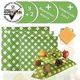 beedchi Wiederverwendbare Wachstücher für Lebensmittel inkl. Reparaturwachs & Verschluss