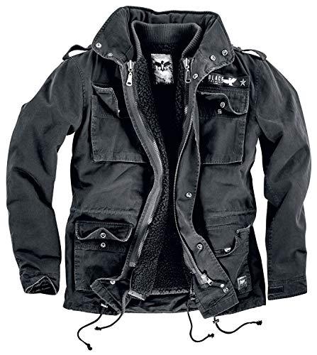 Black Premium by EMP Army Field Jacket Männer Winterjacke schwarz 7XL 100% Baumwolle Basics