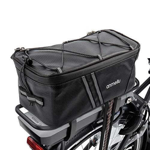 XianJu Borsa da Bici Posteriore,Borsa Portapacchi Bici Impermeabile Bicicletta Pannier Bag - con Parapioggia e Strisce Riflettenti,per Bicicletta,Moto,Scooter (8L).