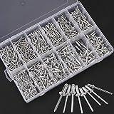 BALLSHOP 660 Stück Blindnieten Popnieten Sortiment Set Aluminium Nieten 3